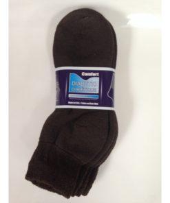 Ankle Diabetic Socks (Brown)