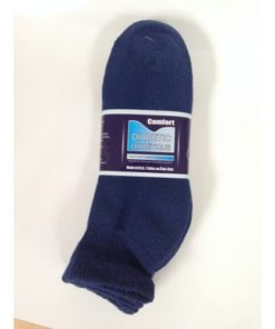 Style: Ankle Type: Diabetic Socks Package of 3 pair Colour: Navy Size: 9-11