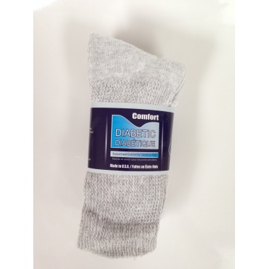 Crew Diabetic Socks (Grey)