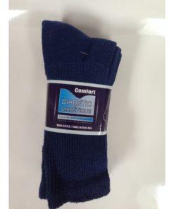 Crew Diabetic Socks (Navy, 13-15)