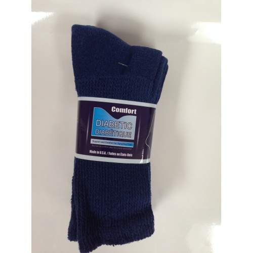 Crew Diabetic Socks (Navy, 13-15)
