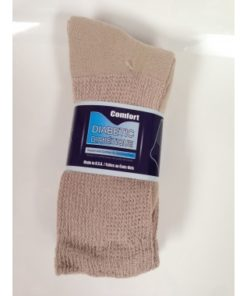 Crew Diabetic Socks (Tan, 13-15)