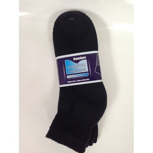 Ankle Diabetic Socks (Black)